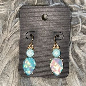 NEW - Blue Opal Iridescent Earrings